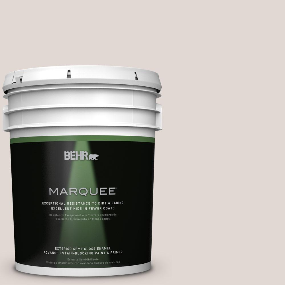 BEHR MARQUEE 5-gal. #N210-1 Taupe Tease Semi-Gloss Enamel Exterior Paint
