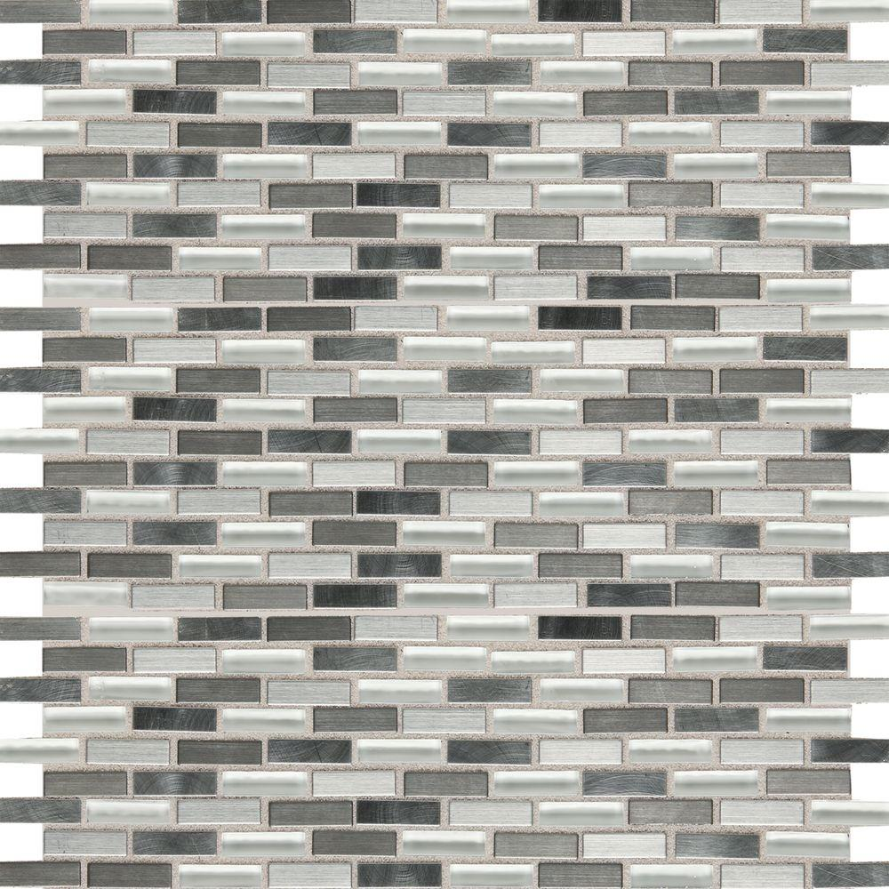 Kitchen Granite Wall Tiles: Daltile Fashion Accents Nickel Blend 12 In. X 12 In. Glass