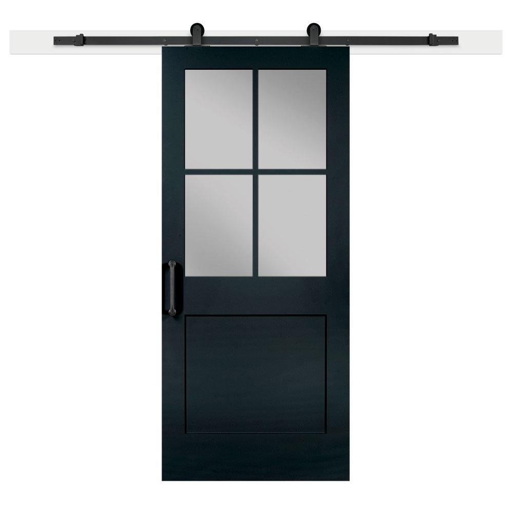 Jeff lewis 36 in x 84 in knight 1 panel 1 2 lite privacy for Sliding panel doors interior