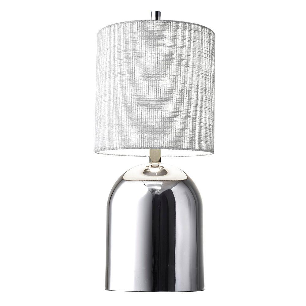 Divine 23 in. Chrome Table Lamp