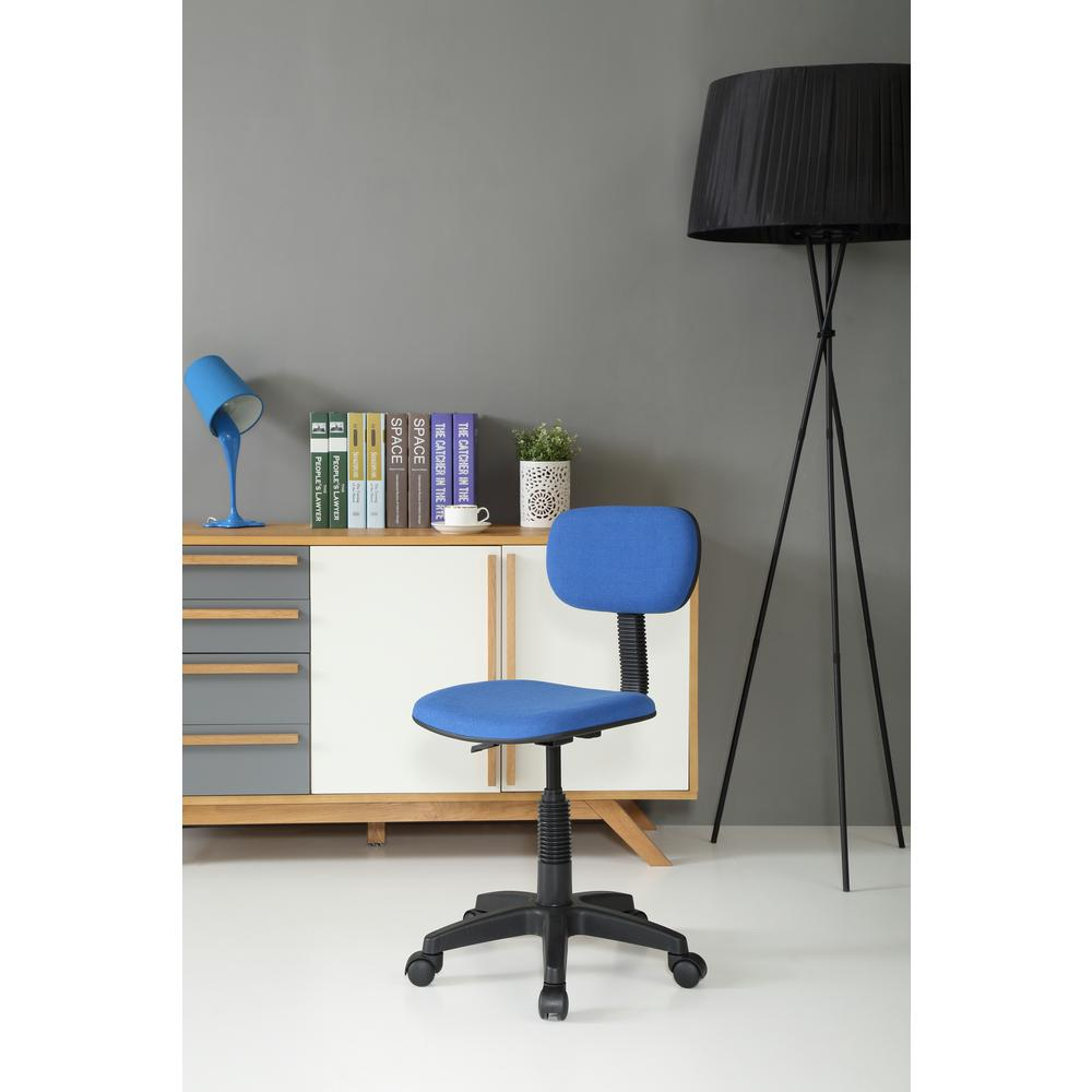 Light blue office chair - Null Blue Office Chair