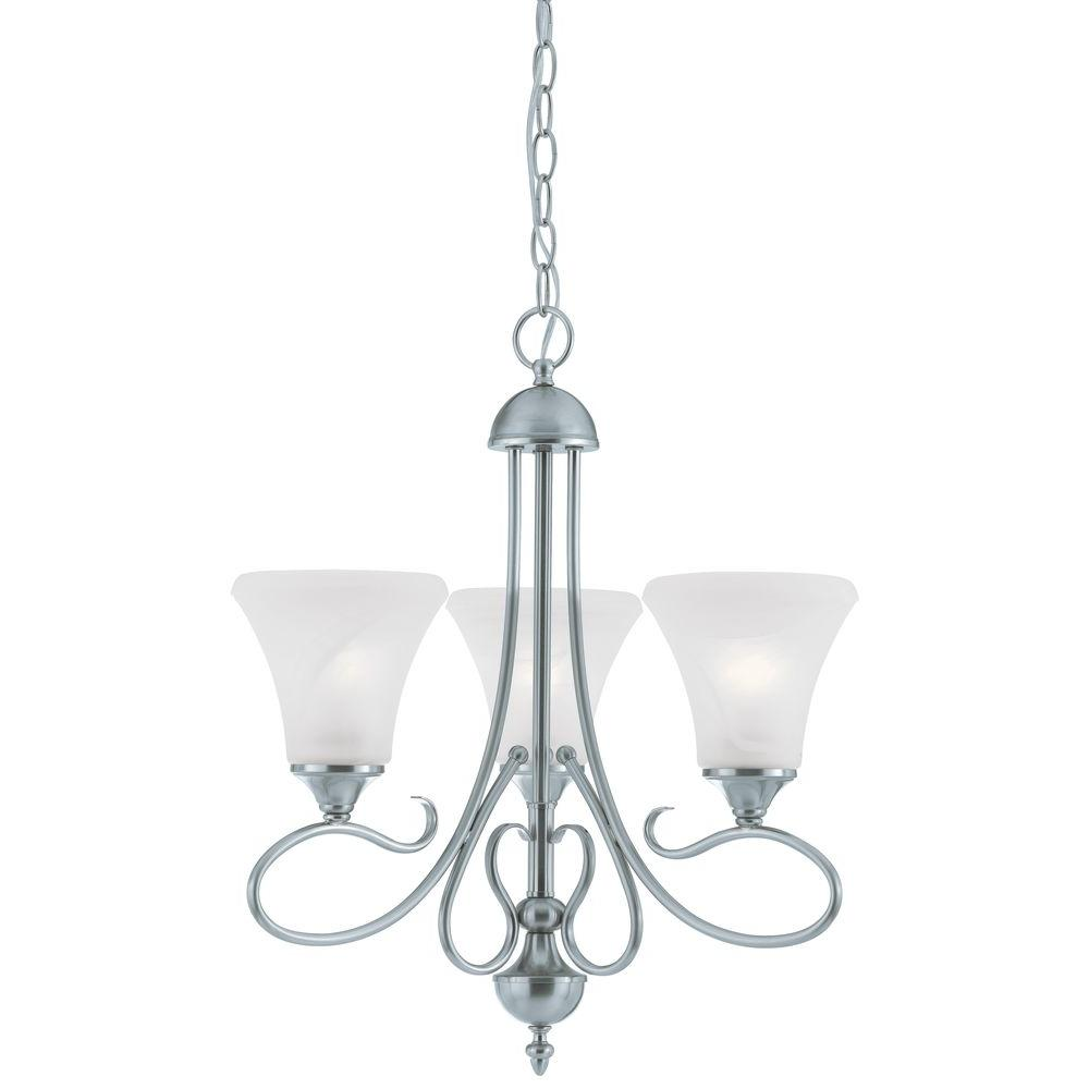 Thomas Lighting Elipse 3-Light Brushed Nickel Chandelier-SL811378 - The Home