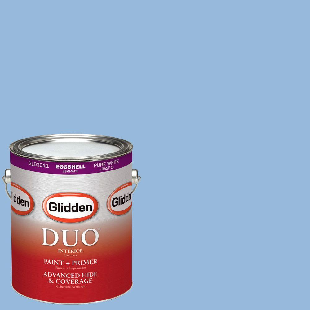 Glidden DUO 1-gal. #HDGV15 French Country Blue Eggshell Latex Interior Paint with Primer
