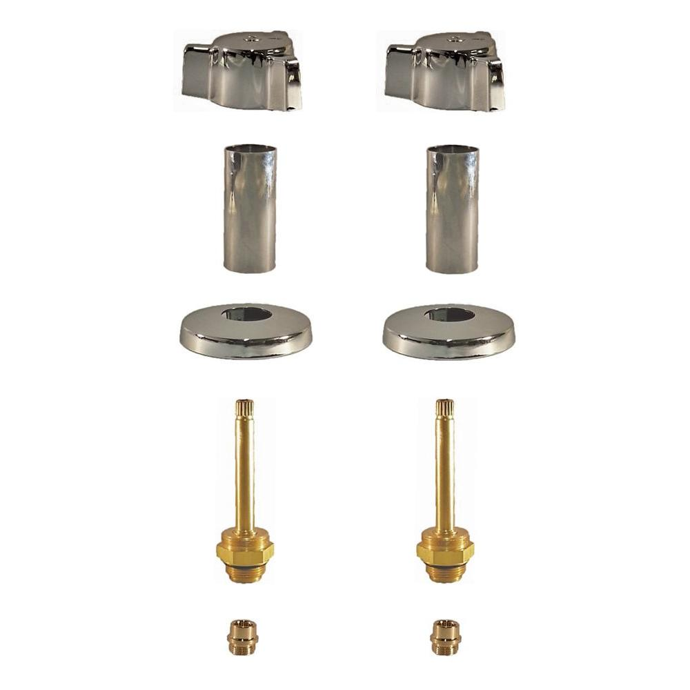 Binford 2 Valve Rebuild Kit for Tub and Shower with Chrome Handles for Indiana