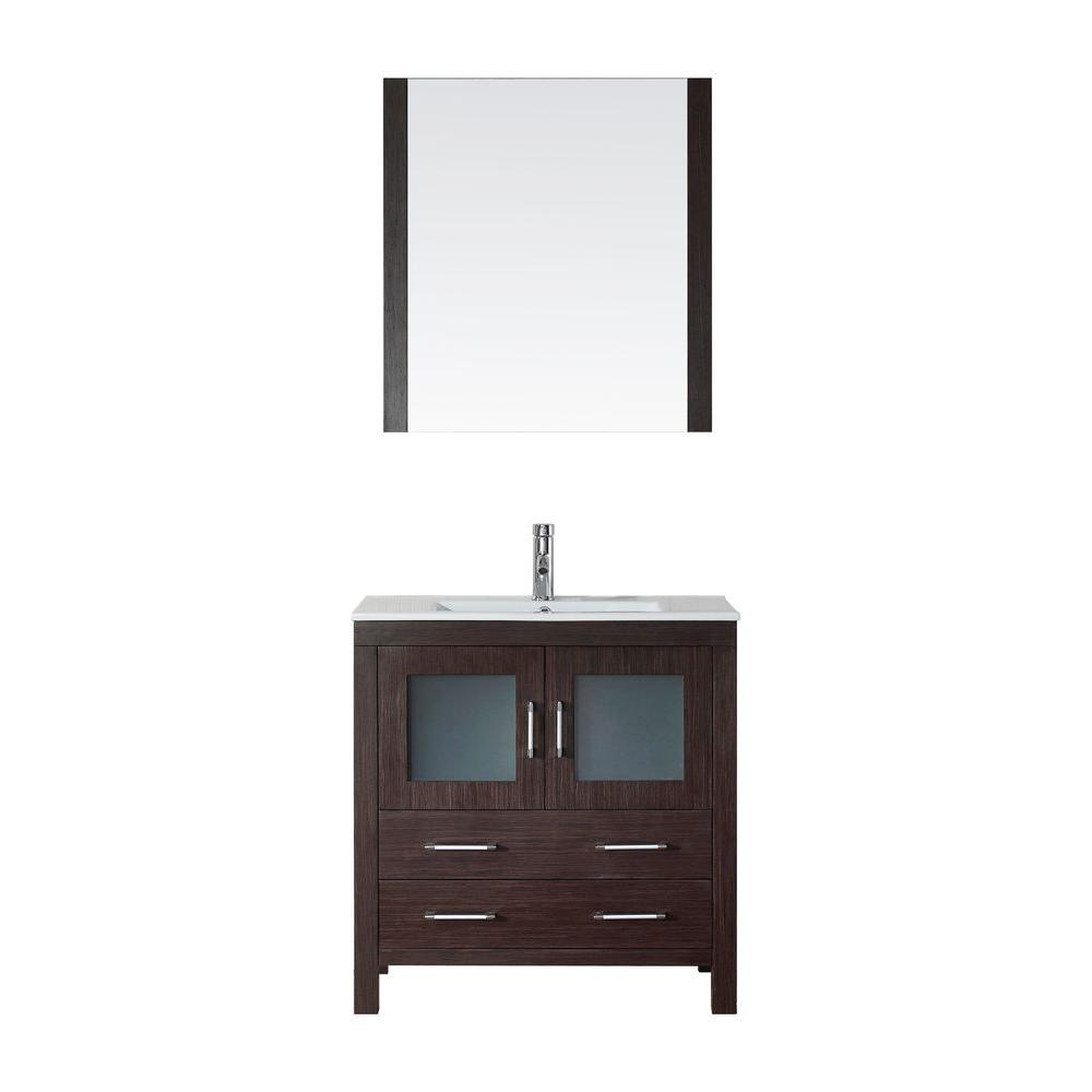 Dior 32 in. W x 18.3 in. D Vanity in Espresso
