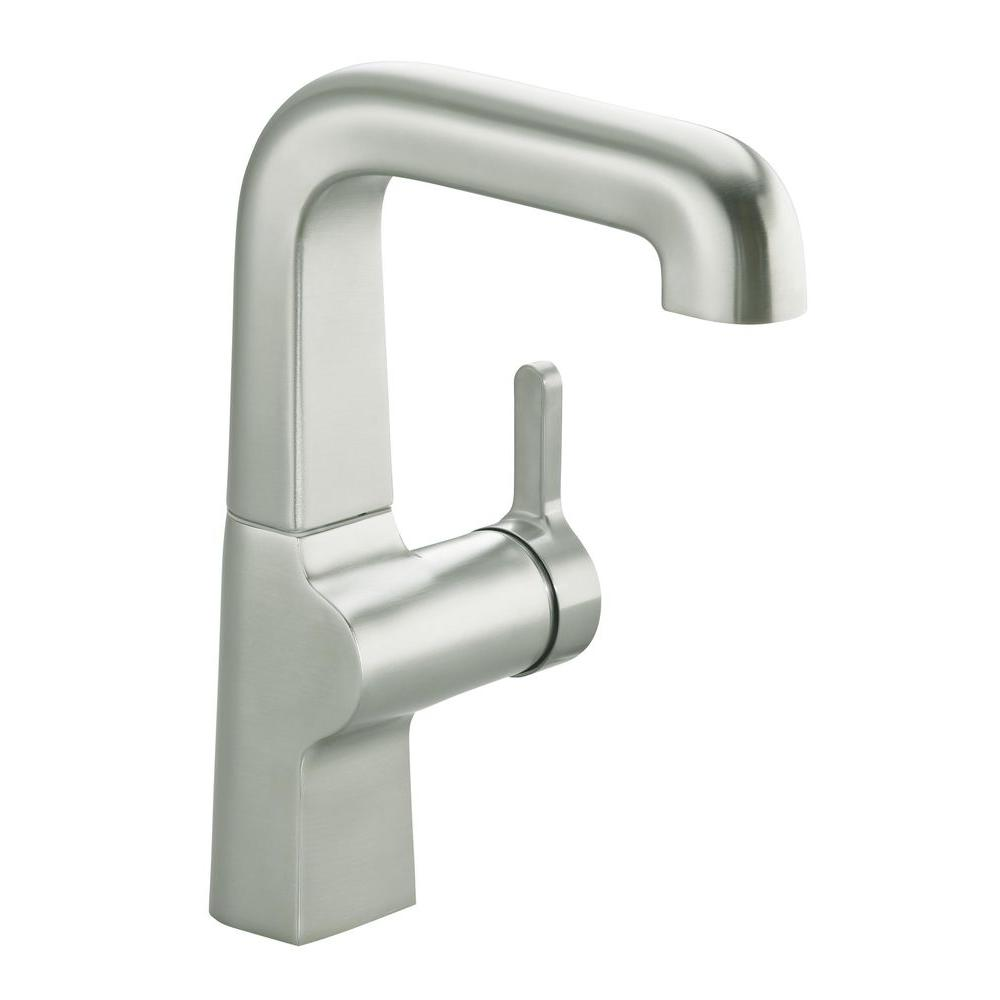 KOHLER Evoke Secondary Single-Handle Bar Faucet in Vibrant Stainless Steel
