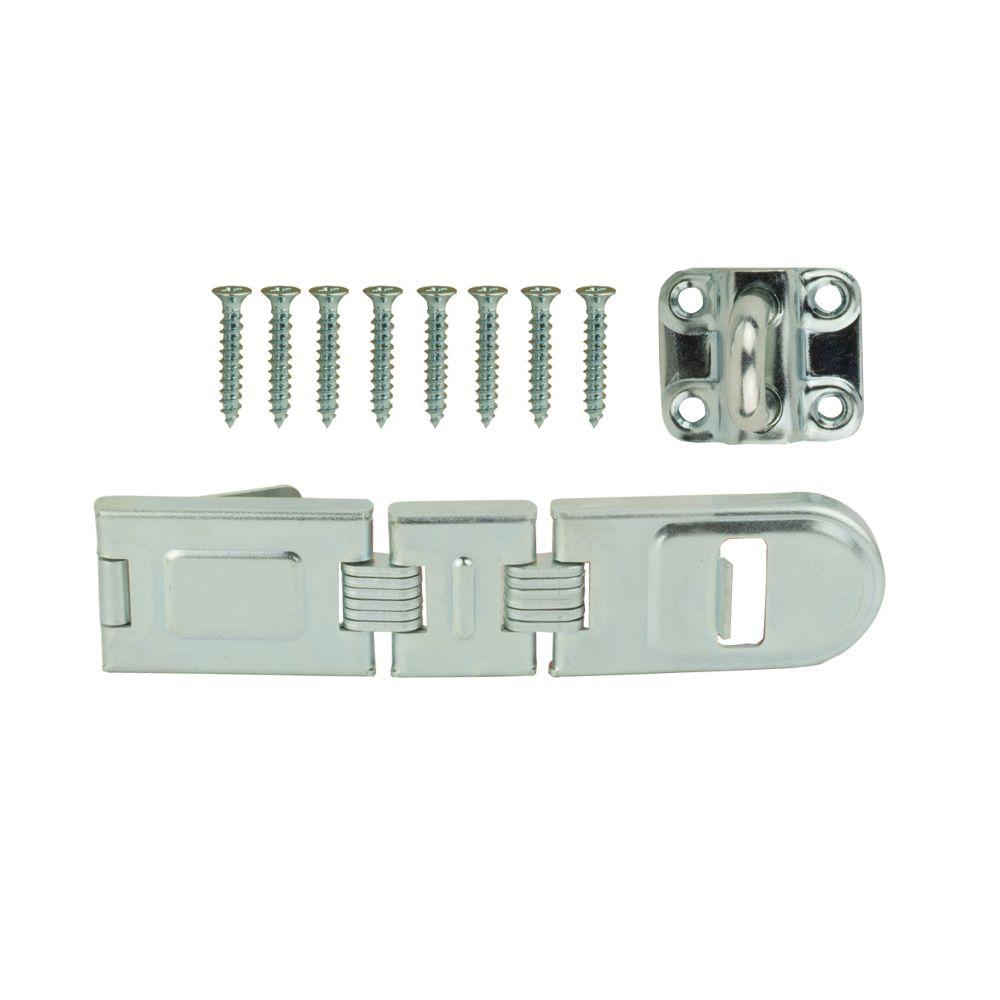 Everbilt 7-3/4 in. Zinc-Plated Double Hinge Safety Hasp-20277 - The Home