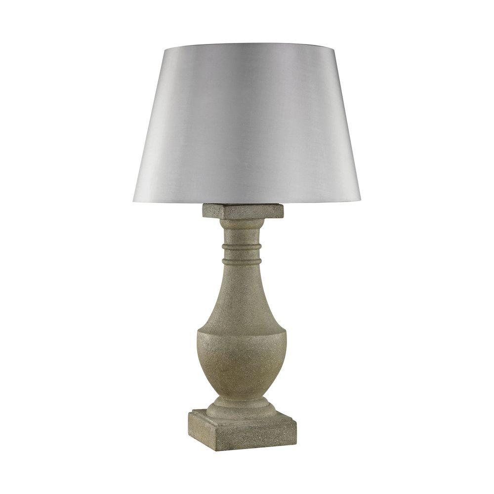 30 in. Concrete Saint Emilion Outdoor Table Lamp-TN-998139 - The Home