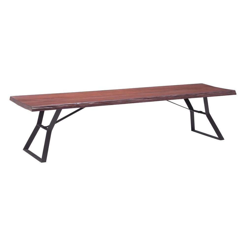 Zuo Rectangular Omaha Distressed Cherry Oak Coffee Table 100504 The Home Depot
