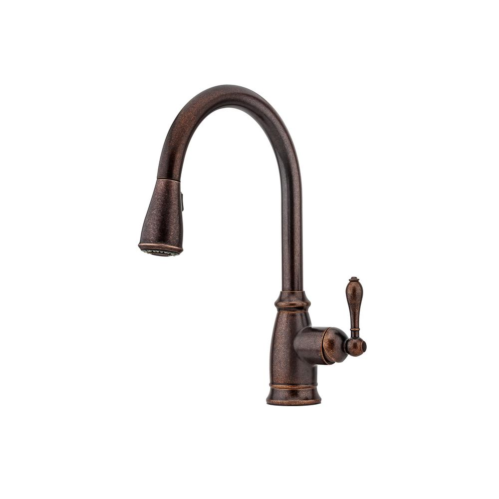 Kitchen Faucet Bronze Pfister Canton Singlehandle Pulldown Sprayer Kitchen Faucet In