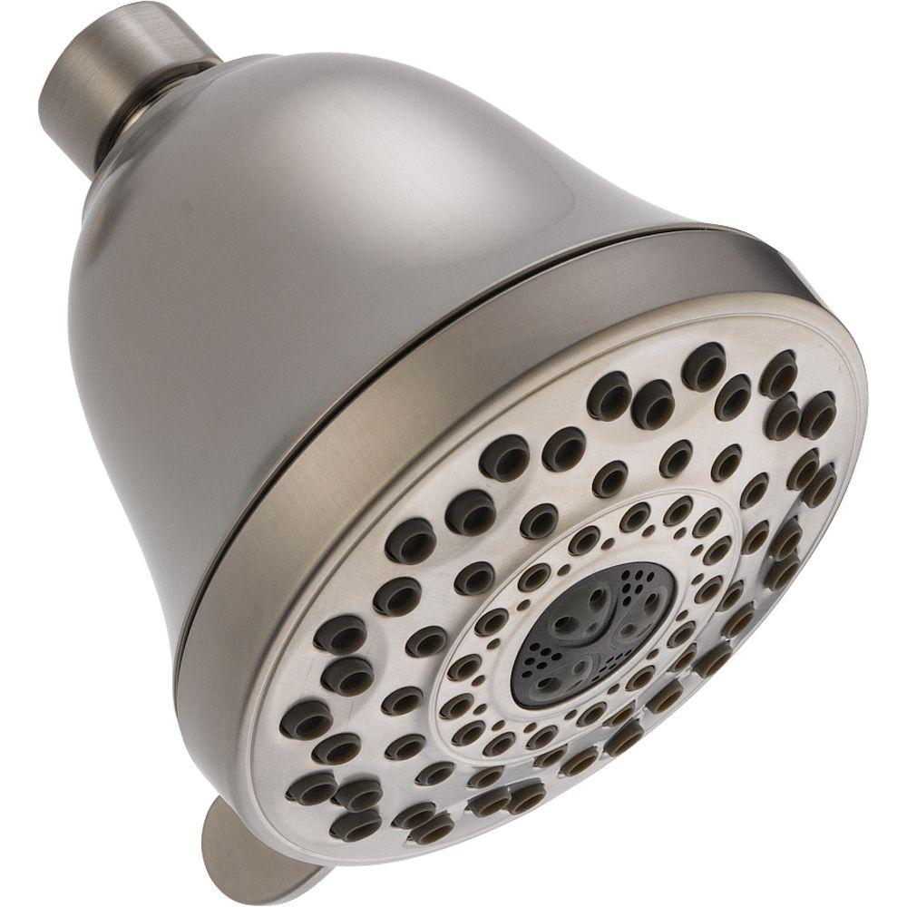 Delta Touch-Clean 7-Spray 4 in. Fixed Shower Head in Stainless