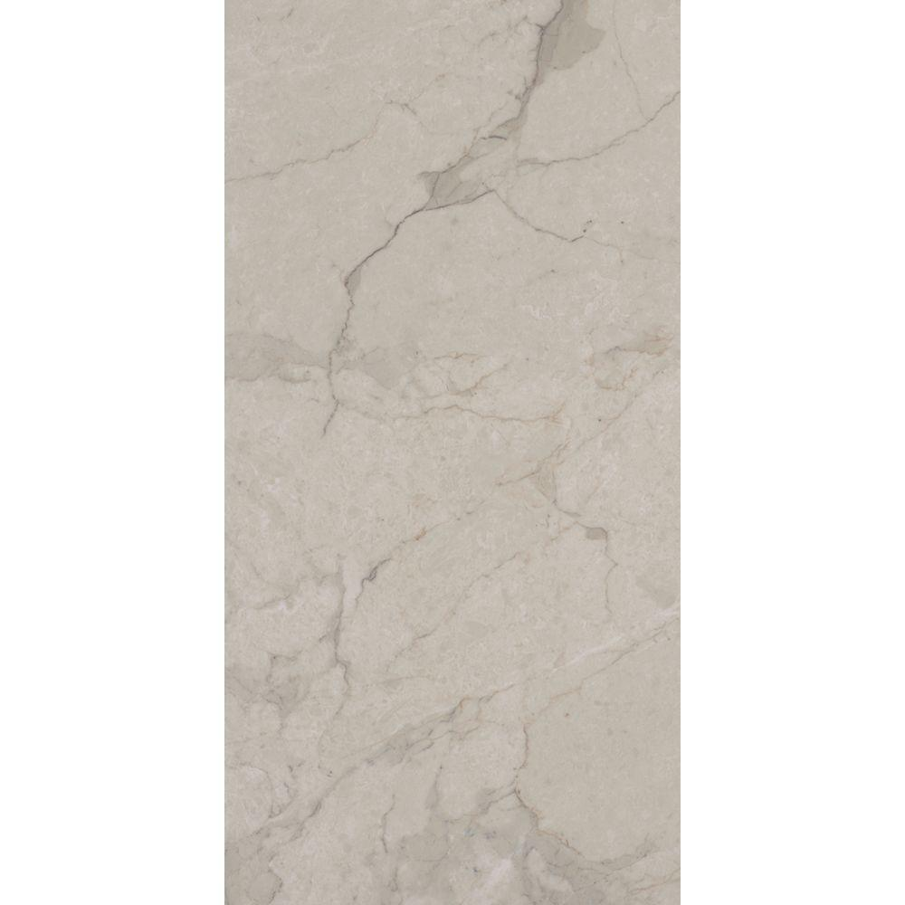 TrafficMASTER Allure Ultra 12 in. x 23.82 in. Carrara White Resilient Vinyl Tile Flooring with SimpleFit End Joint (19.8 sq. ft. / case)