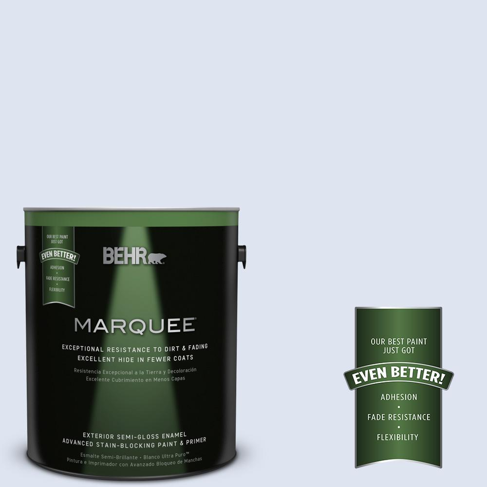 BEHR MARQUEE 1-gal. #600C-1 Mystic Light Semi-Gloss Enamel Exterior Paint
