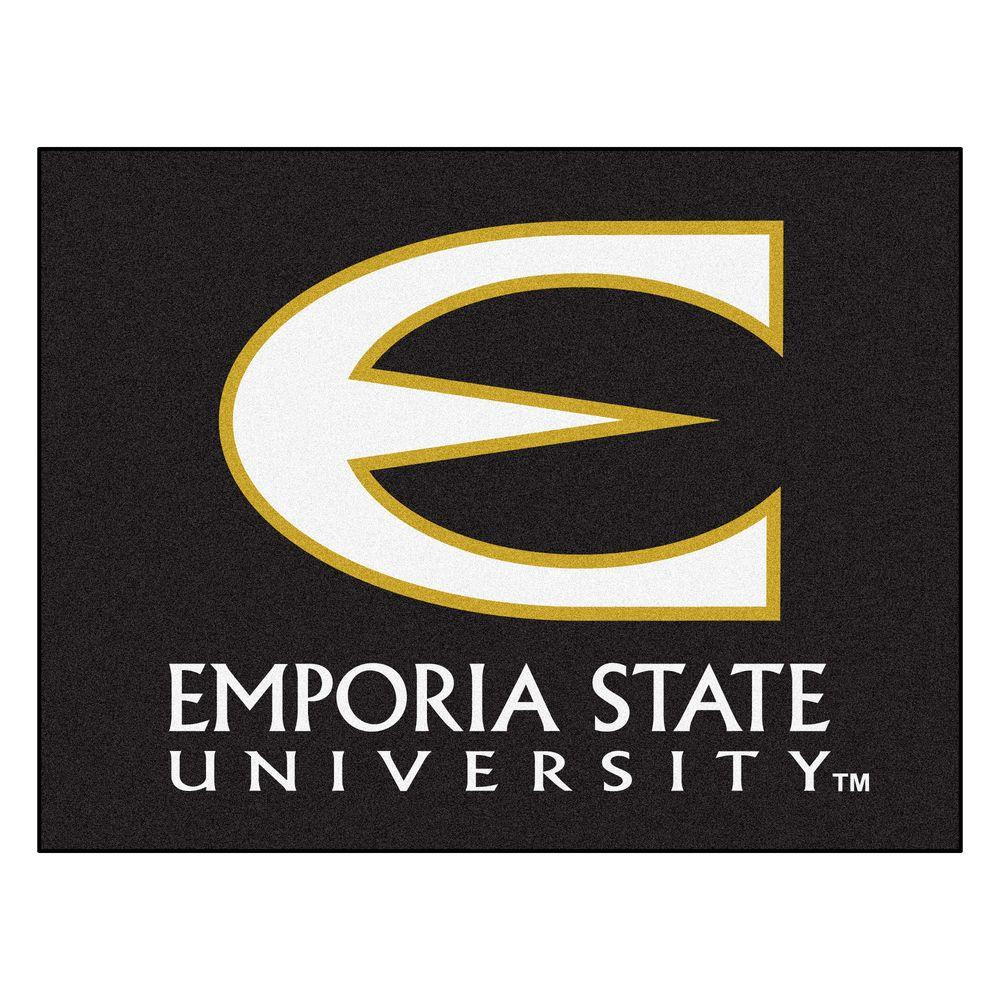 NCAA Emporia State University Black 2 ft. 10 in. x 3