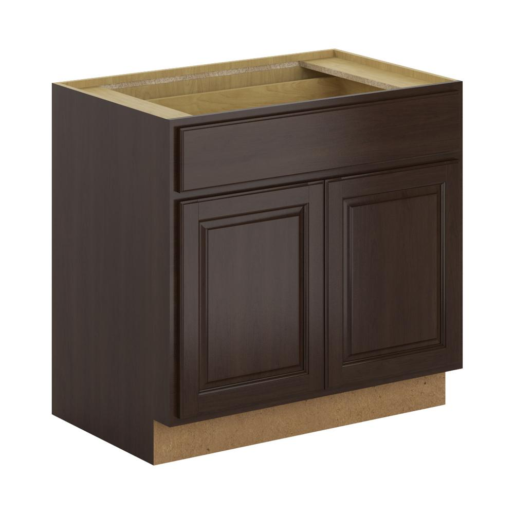 Madison Assembled 36x34.5x24 in. Base Cabinet with Soft Close Drawer in
