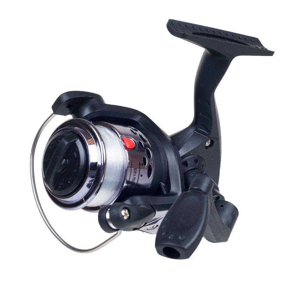 Gone Fishing Silver Spinning Reel with Fishing Line