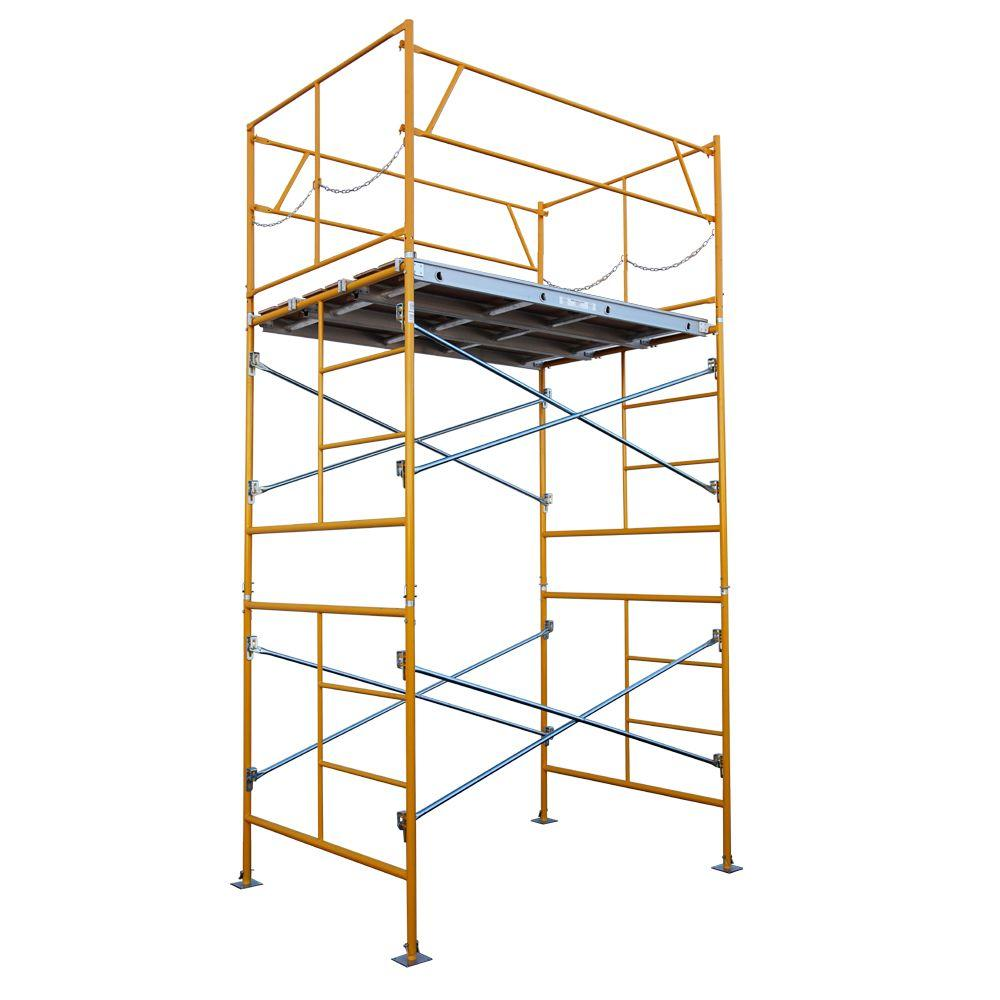 Fortress 10 Ft X 7 Ft X 5 Ft Stationary Scaffold Tower 2475 Lb Load Capacity Hd1075bp The