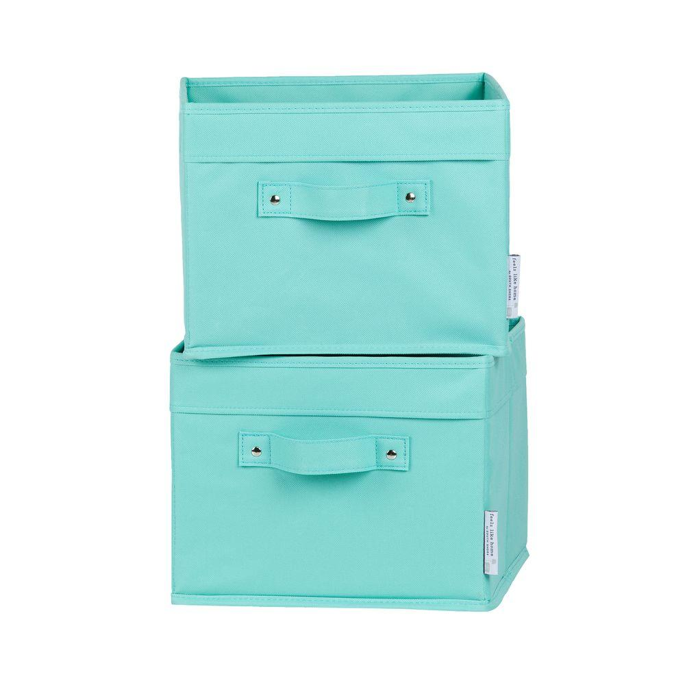 South Shore Storit Small Turquoise Polyester Baskets (2-Pack)-100032 - The Home