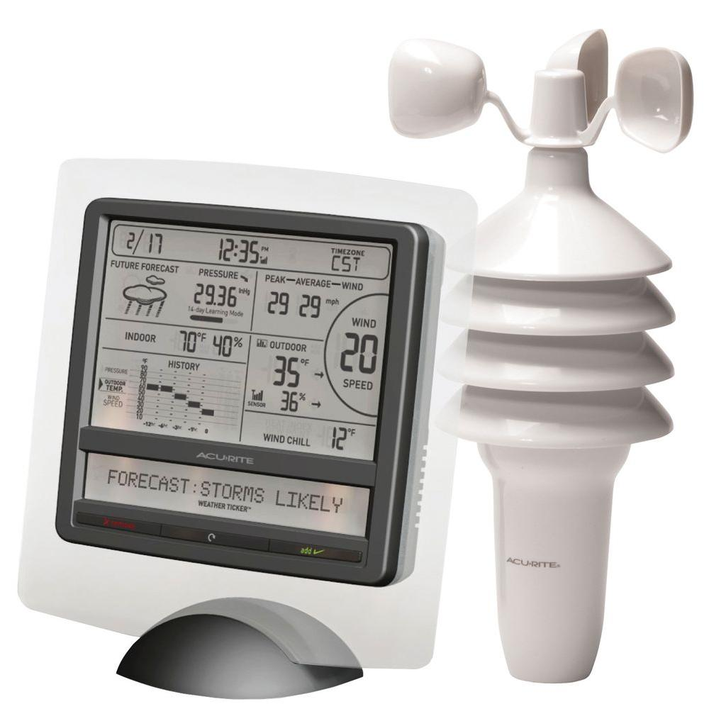 AcuRite Weather Gauges & Instruments Digital Weather Station with Scrolling Ticker 00615HD