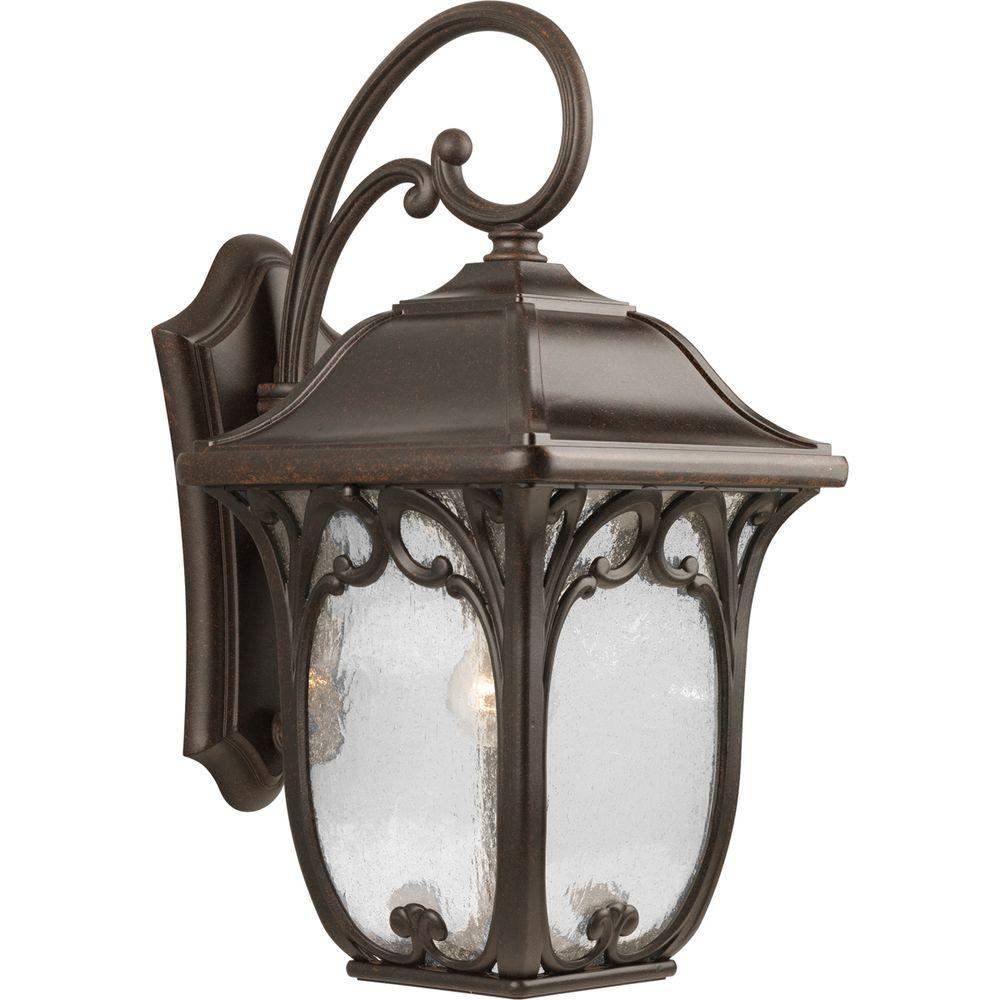 Progress Lighting Enchant Collection Espresso Outdoor Wall Lantern