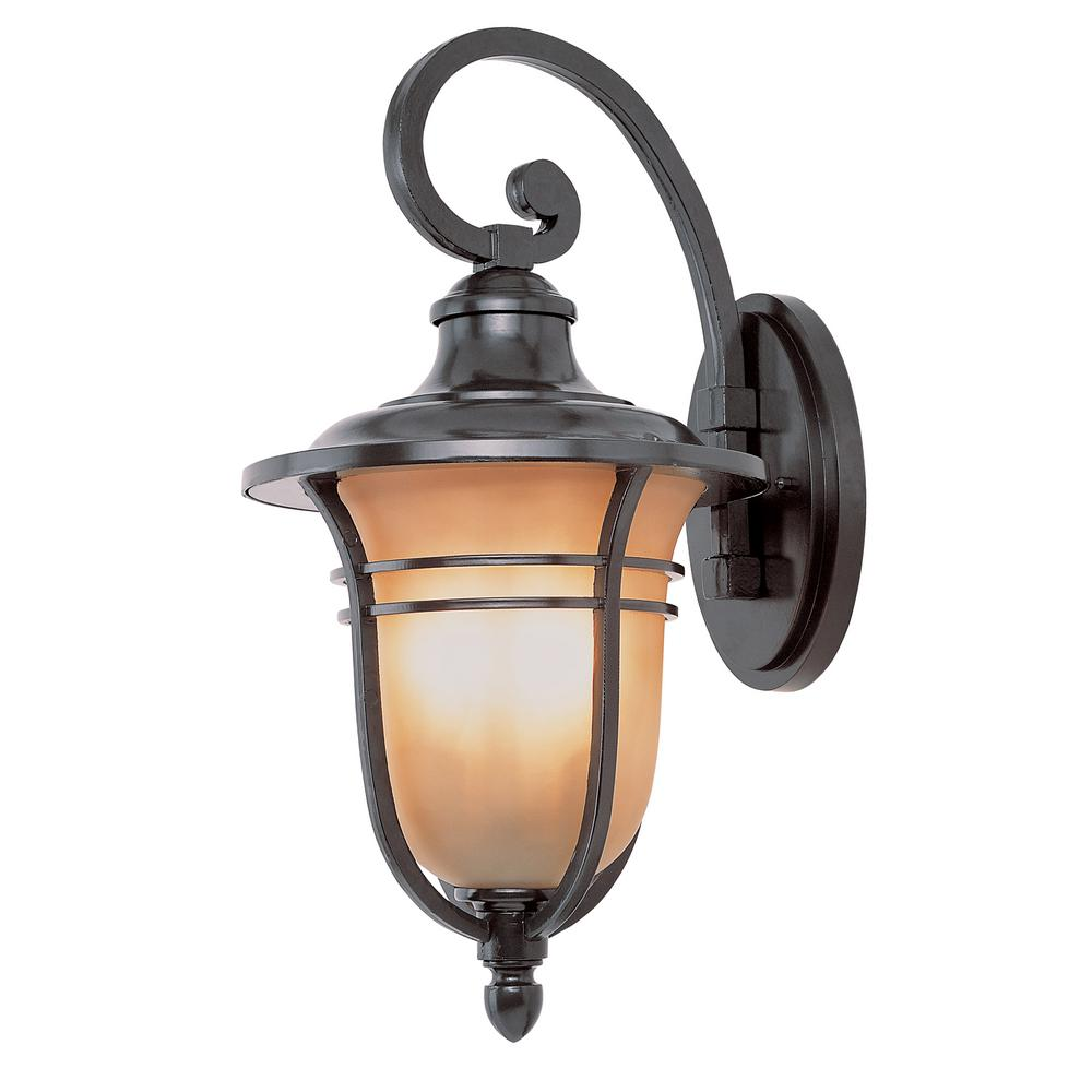 1-Light Wall Outdoor Rubbed Oil Bronze Wall Lantern
