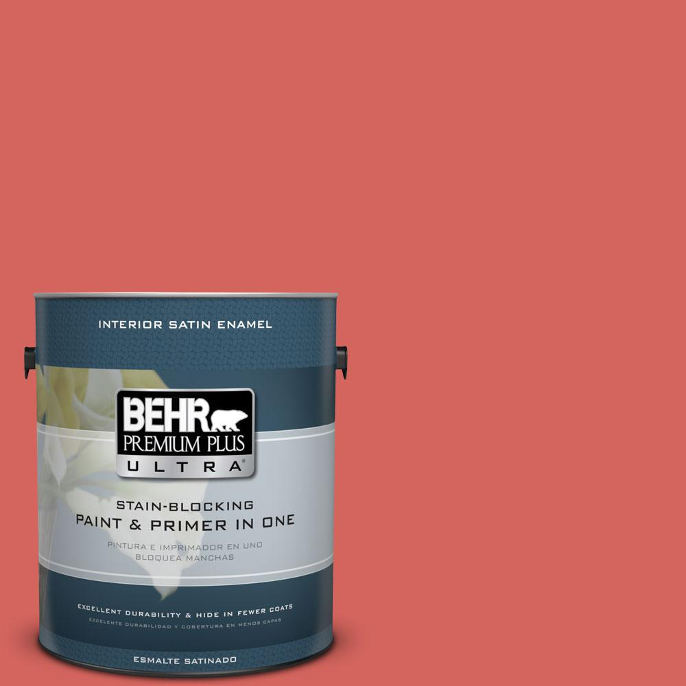 BEHR Premium Plus Ultra Home Decorators Collection 1-gal. #HDC-MD-05 Desert Coral Satin Enamel Interior Paint