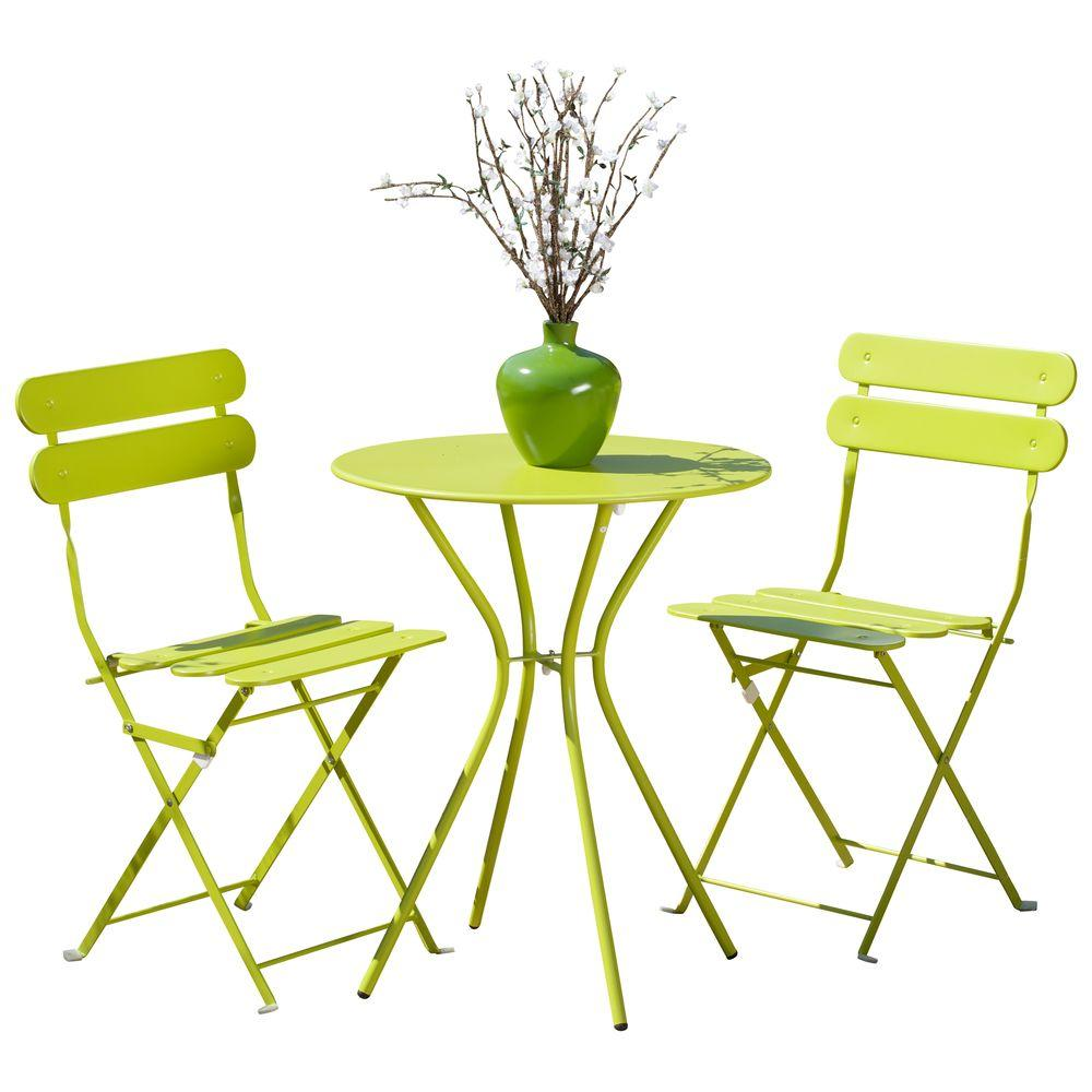 RST Brands Sol Green 3-Piece Patio Bistro Set-OP-BS3-SOL-Grn - The Home