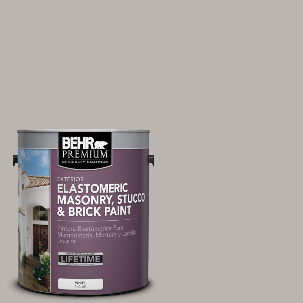 1 gal. #MS-84 French Gray Elastomeric Masonry, Stucco and Brick Paint