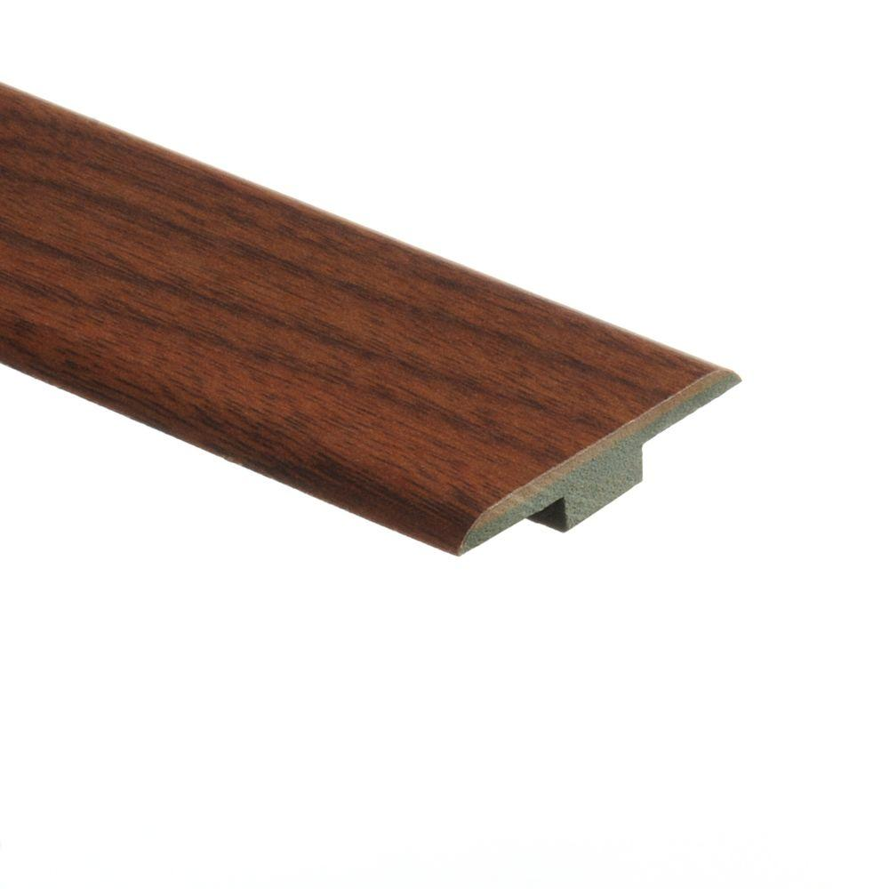 Zamma Hawthorne Walnut 7/16 in. Thick x 1-3/4 in. Wide x 72 in. Length Laminate T-Molding-DISCONTINUED