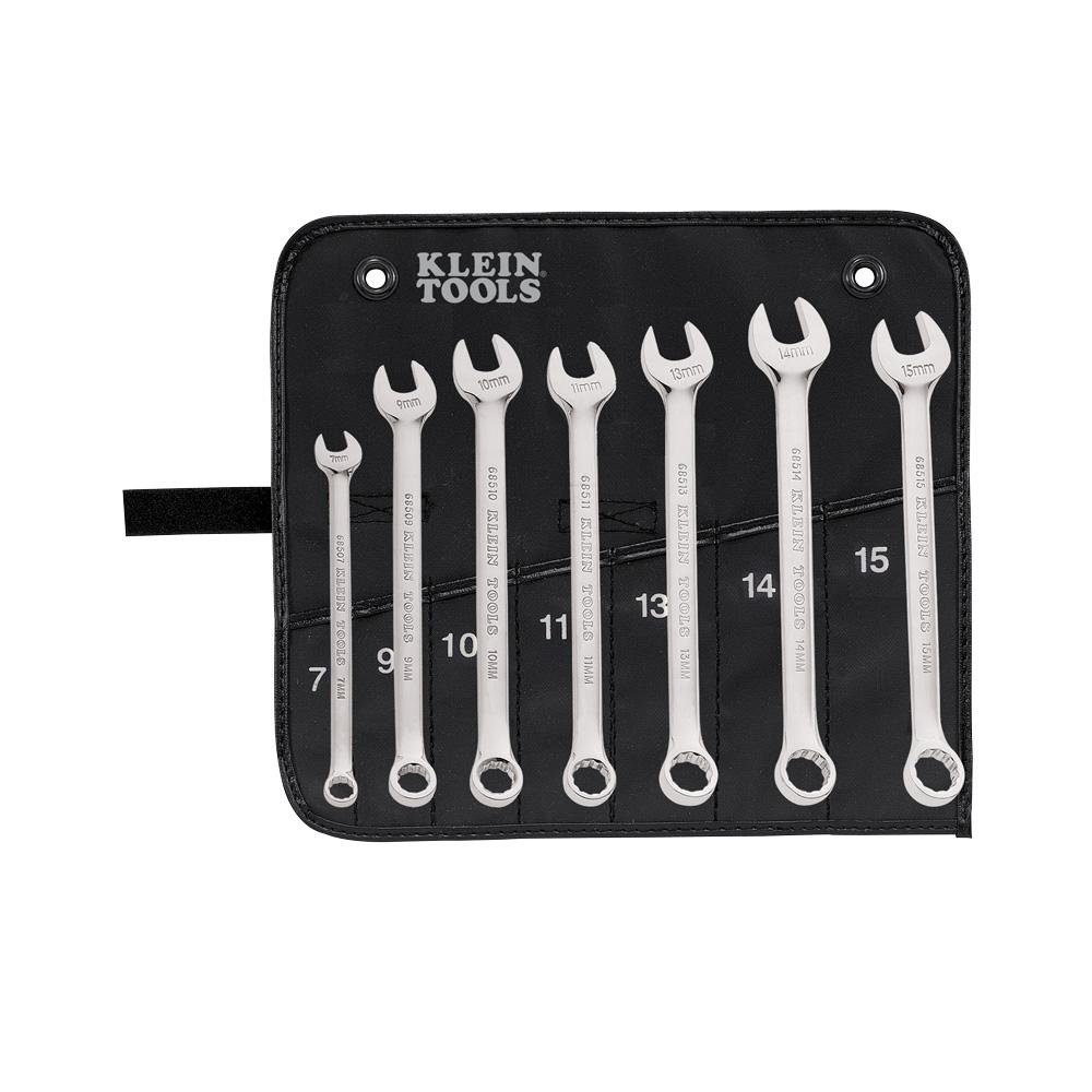 Klein Tools Metric Combination Wrench Set (7-Piece)