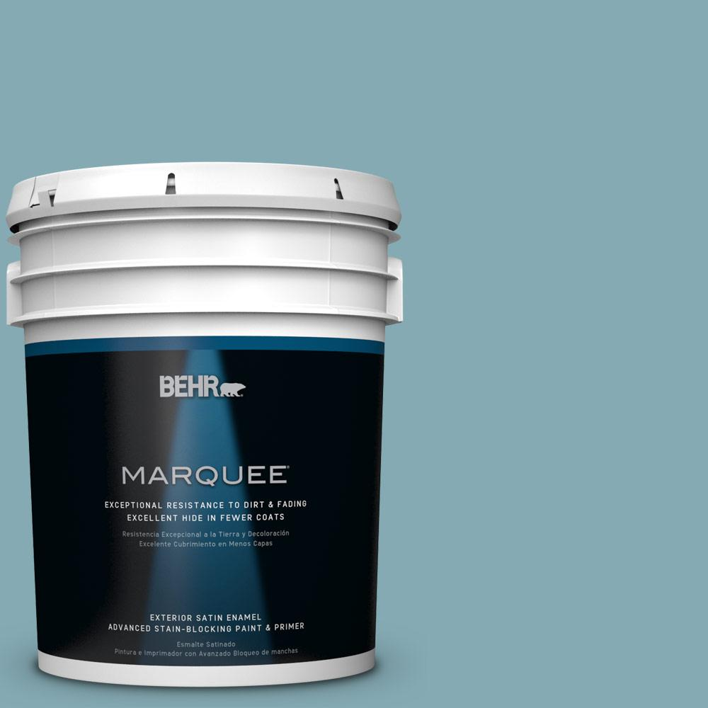BEHR MARQUEE 5-gal. #S450-4 Crashing Waves Satin Enamel Exterior Paint