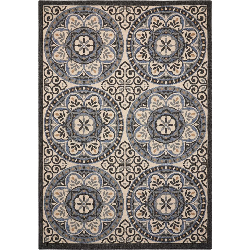 Caribbean Ivory/Charcoal 5 ft. 3 in. x 7 ft. 5 in.