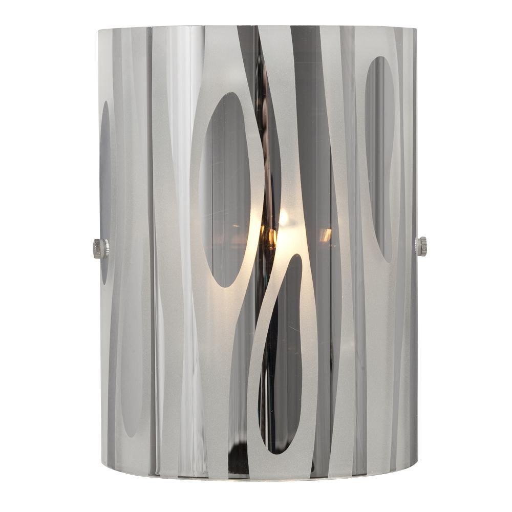 negron 1 light chrome halogen sconce cli xy5249785 the home depot. Black Bedroom Furniture Sets. Home Design Ideas