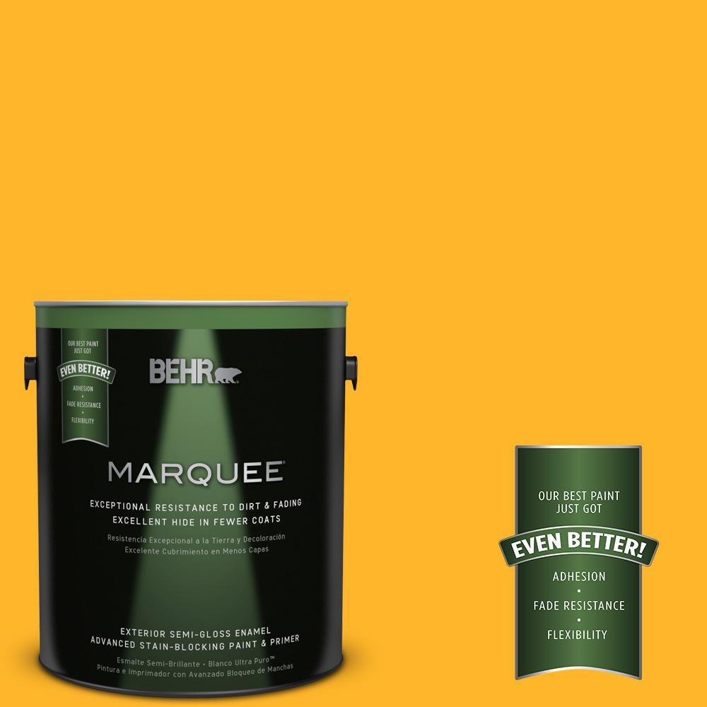 1-gal. #P260-7 Extreme Yellow Semi-Gloss Enamel Exterior Paint