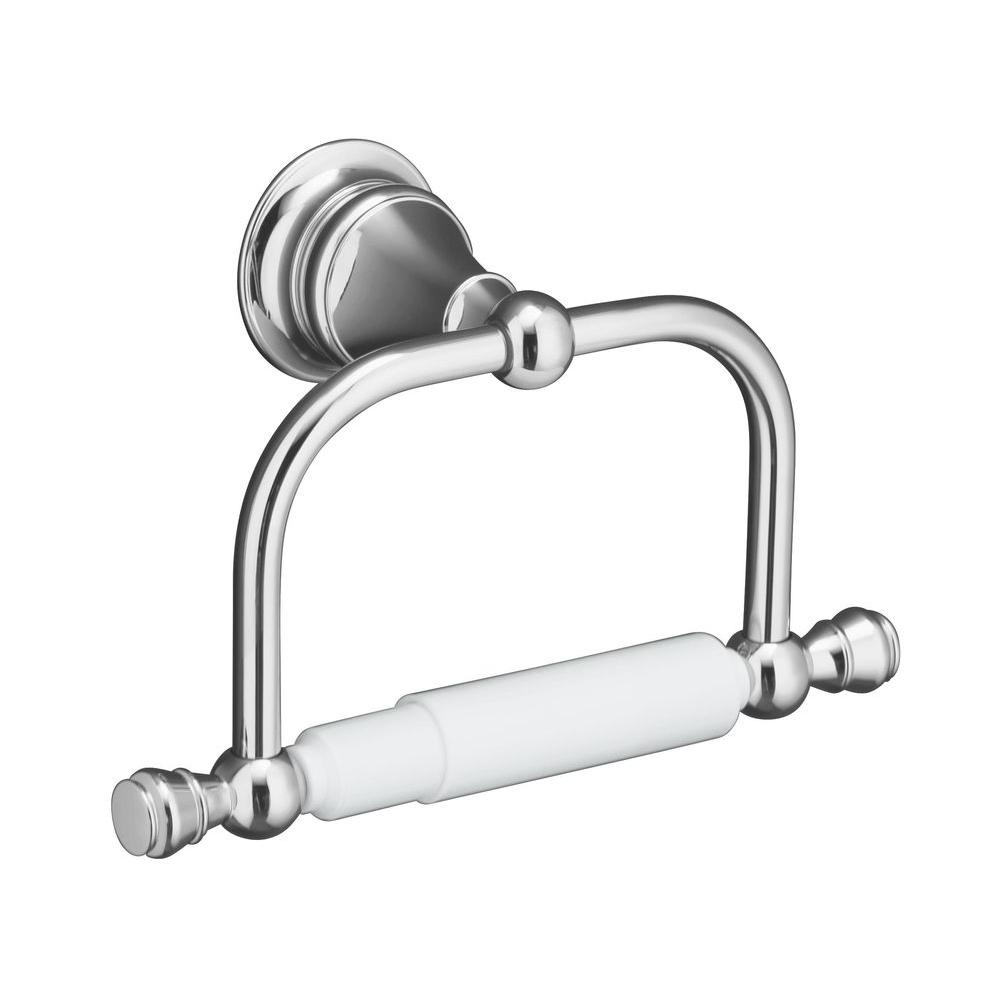 Revival Wall-Mount Single Post Toilet Paper Holder in Polished Chrome