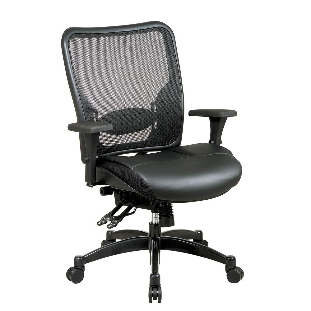 Office Star Professional Back Ergonomic Mesh Office Chair in Black