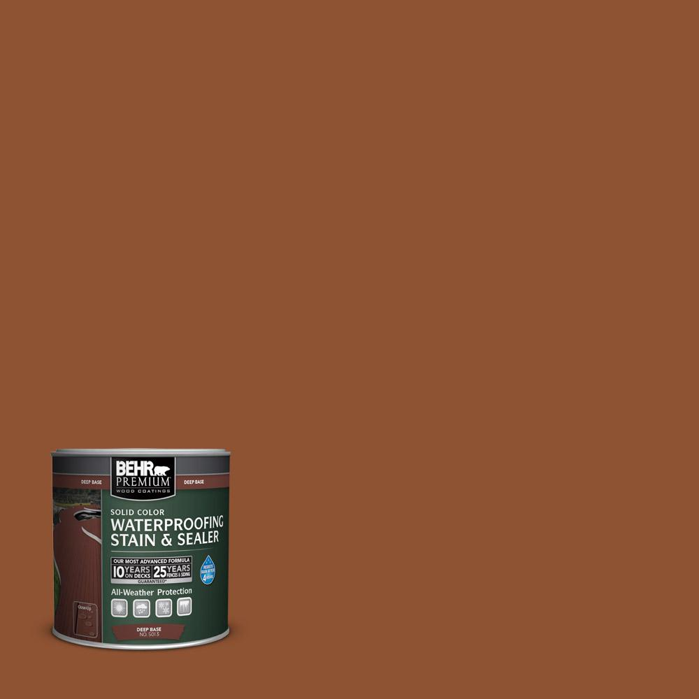 8 oz. #SC122 Redwood Naturaltone Solid Color Waterproofing Stain and Sealer