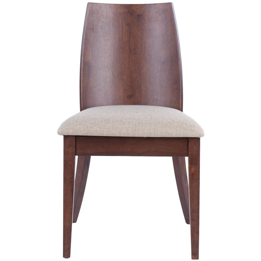 Safavieh Jed Beige Solid Wood Polyester Side Chair