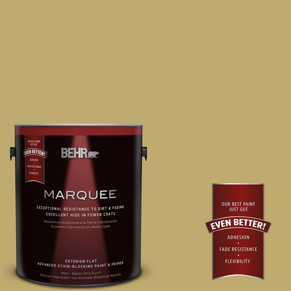 1-gal. #370F-5 Coriander Seed Flat Exterior Paint