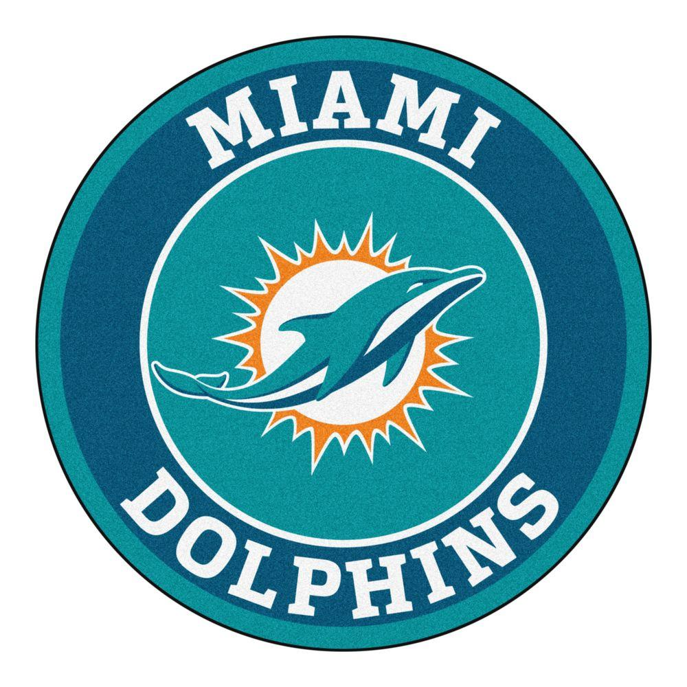Fanmats Nfl Miami Dolphins Turquoise 2 Ft 3 In X 2 Ft 3
