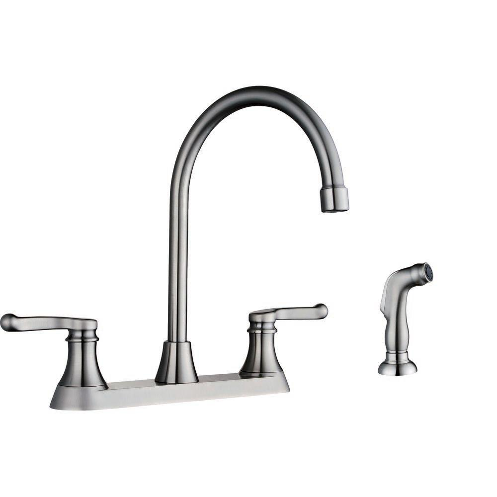 Sheffield Home Esperanza 2-Handle Side Sprayer Kitchen Faucet in Brushed Nickel-DISCONTINUED