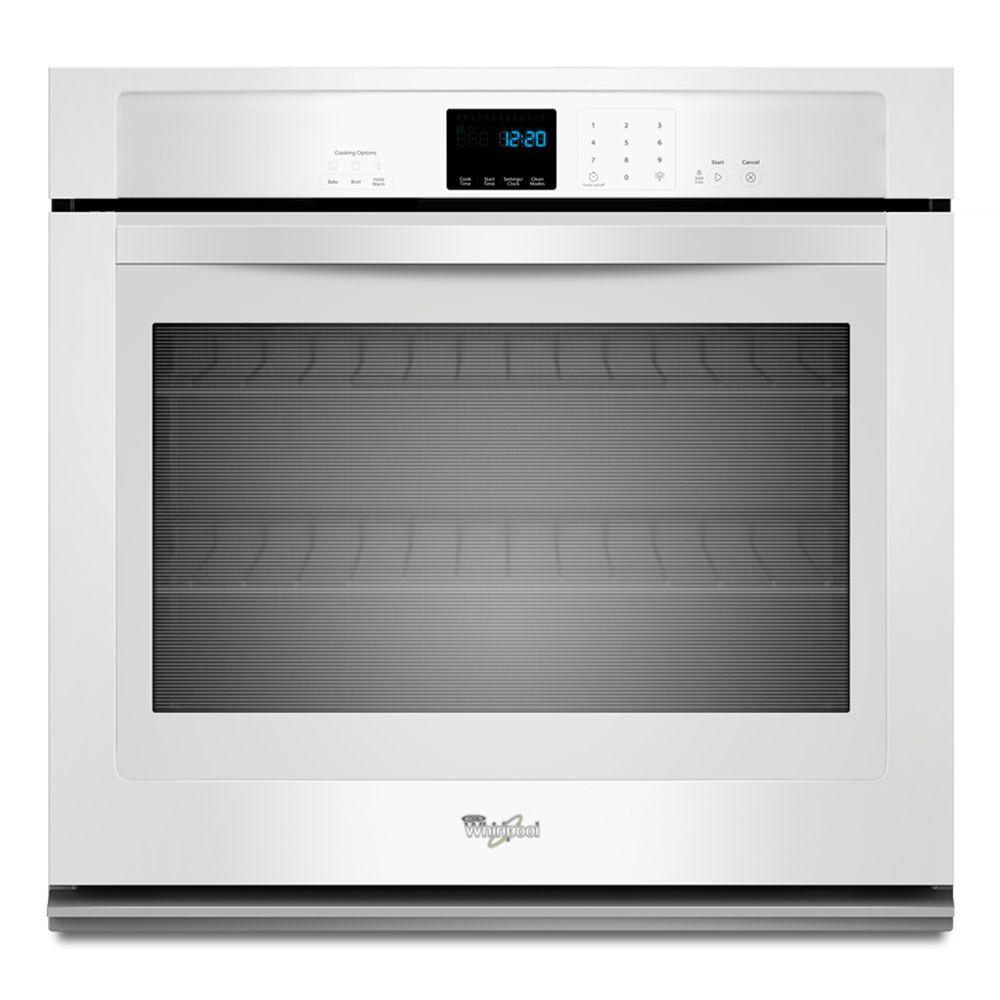Whirlpool 27 in. Single Electric Wall Oven Self-Cleaning in White