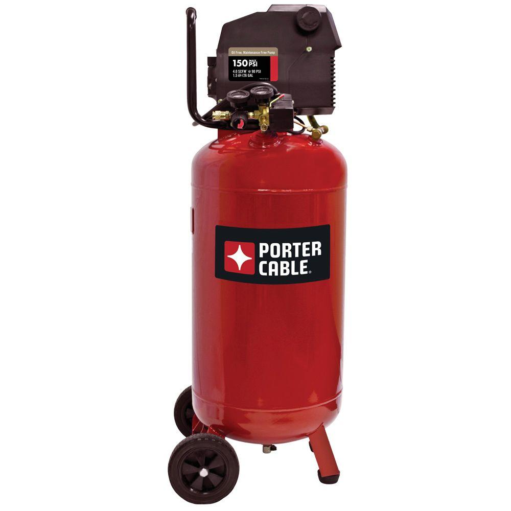 Porter-Cable 26-Gal. Vertical Portable Electric Air Compressor