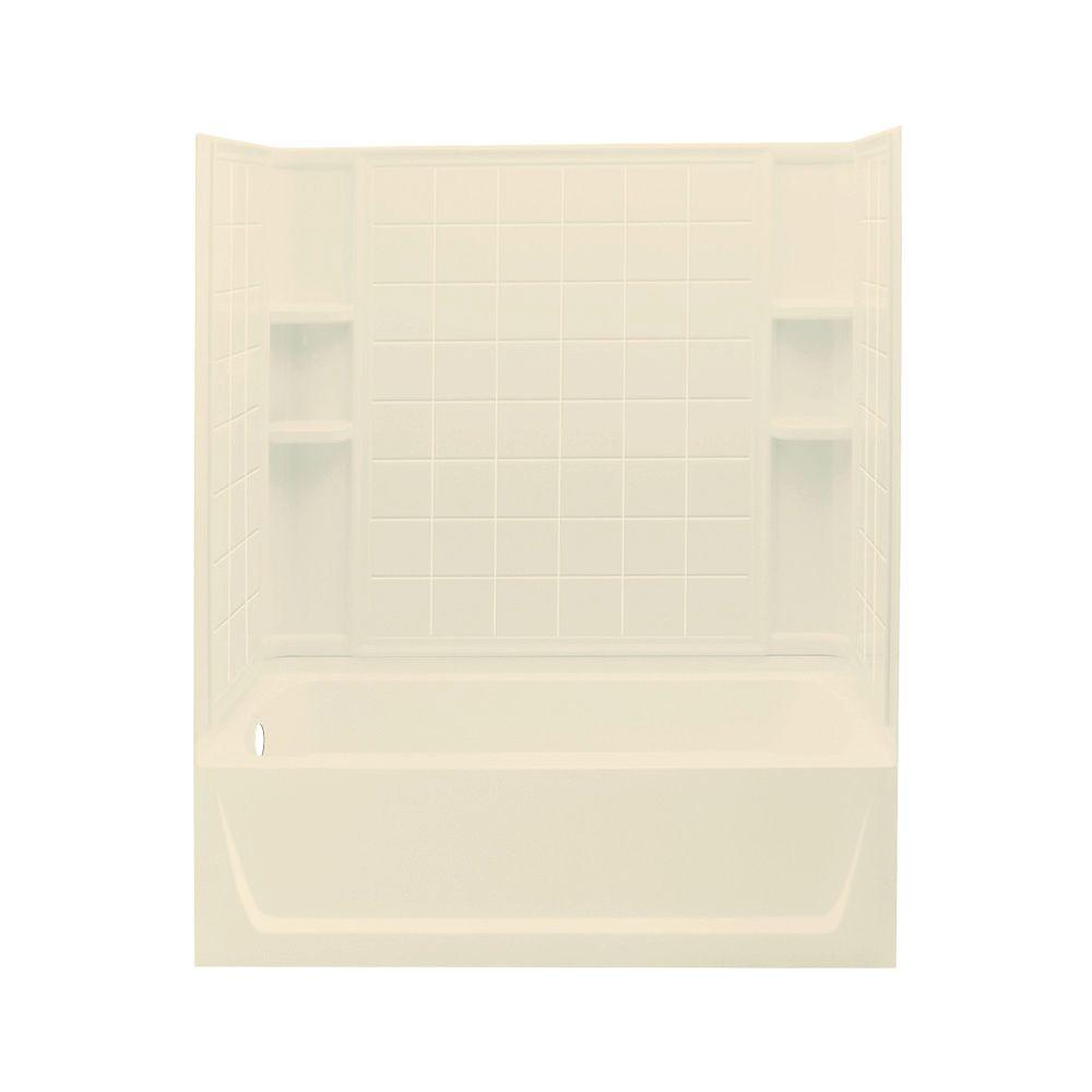 STERLING Ensemble 60 in. x 32 in. x 76 in. Standard Fit Bath/Shower Kit in Almond-DISCONTINUED
