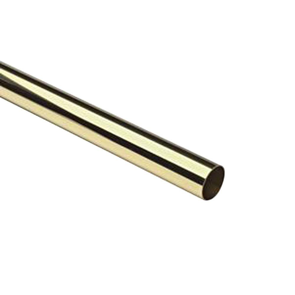 4 ft. Polished Brass 1-1/2 in. Outside Diameter Tubing with 0.05