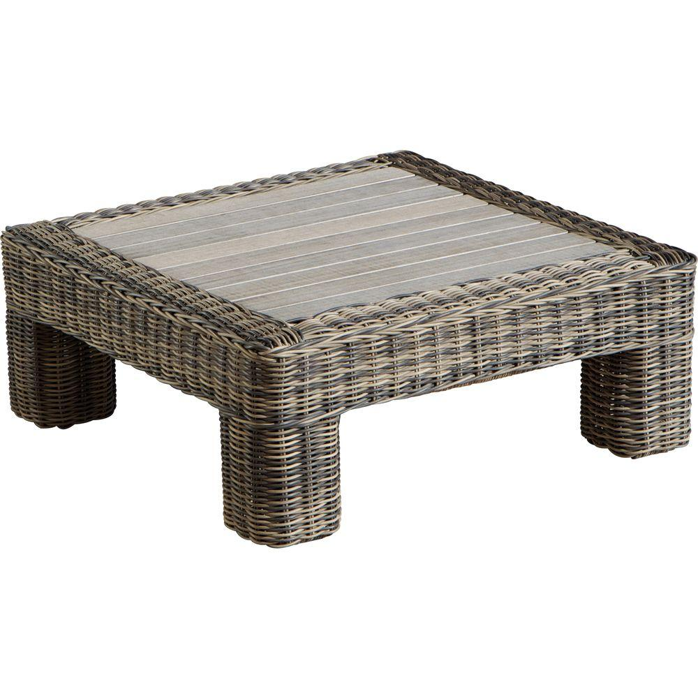 RST Brands Resort Weathered Grey Patio Coffee Table