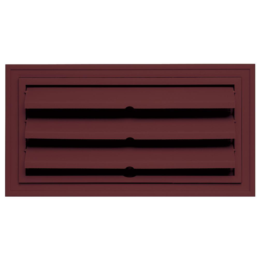 Builders Edge 9.375 in. x 18 in. Foundation Vent with Ring for Remodeling, #078-Wineberry-DISCONTINUED