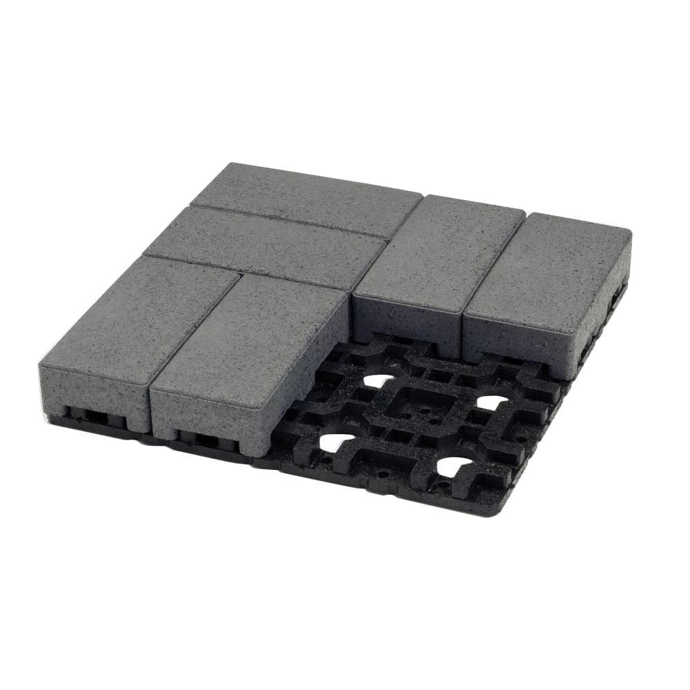 AZEK 4 in. x 8 in. Waterwheel Composite Standard Paver Grid System (8 Pavers and 1 Grid)