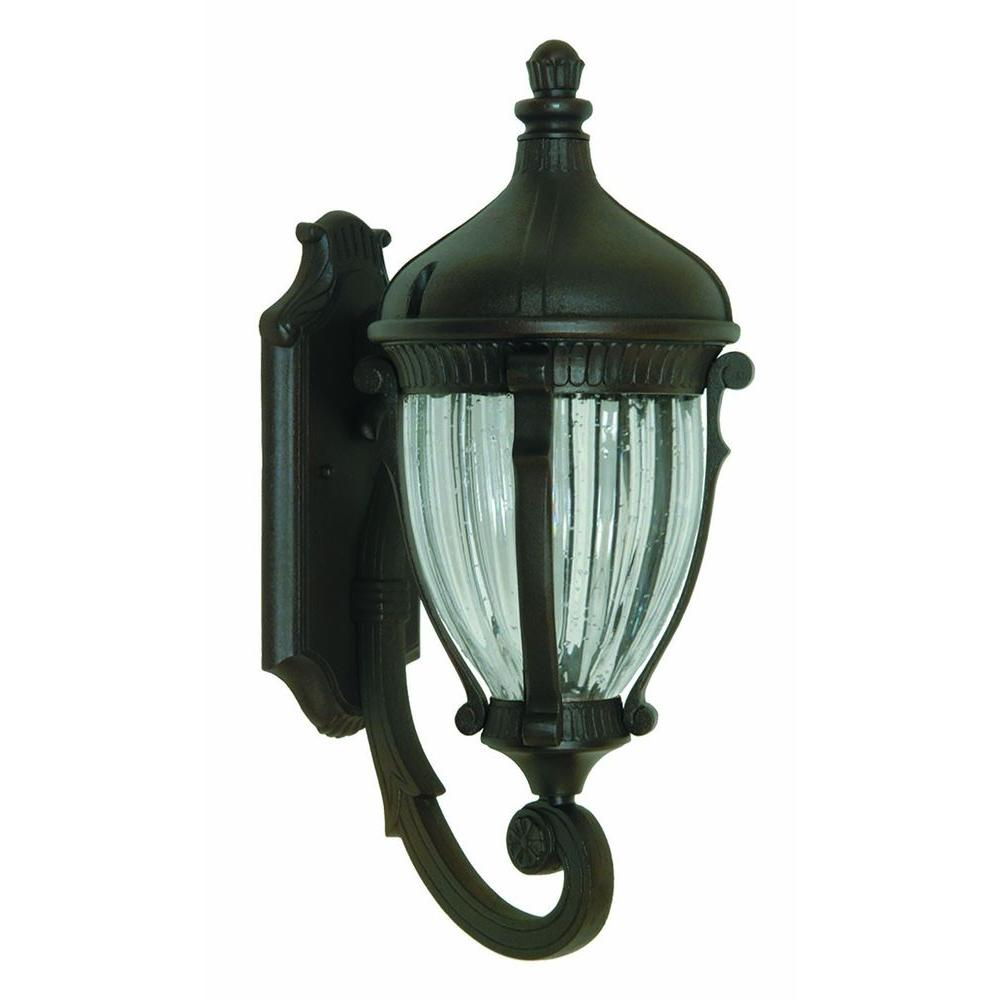 Kahley 1-Light Oil Rubbed Bronze Outdoor Wall Lantern
