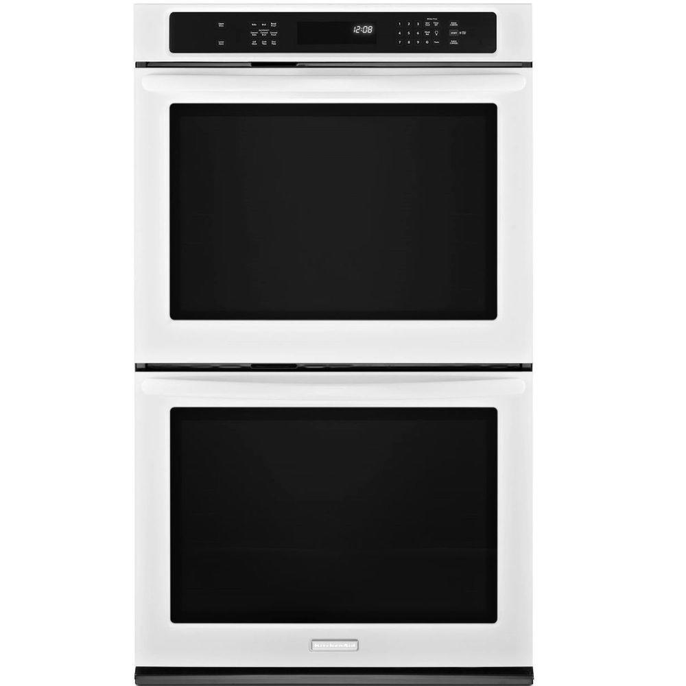 KitchenAid Architect Series II 30 in. Double Electric Wall Oven Self-Cleaning with Convection in White
